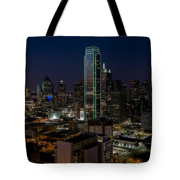 Dallas Skyline Evening Glow Tote Bag
