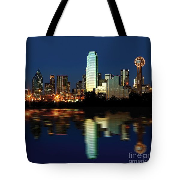 Tote Bag featuring the photograph Dallas Skyline by Gregg Cestaro