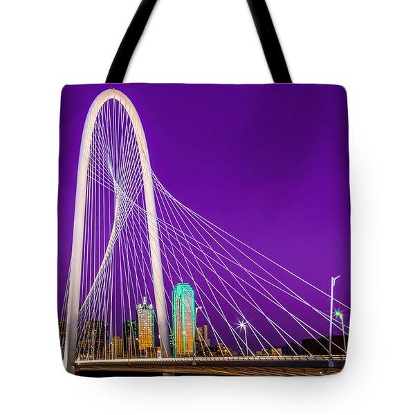 Dallas Skyline Purple Tote Bag