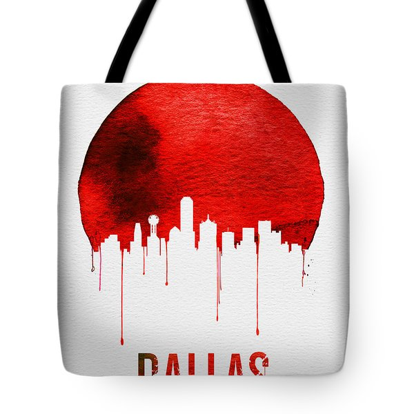 Dallas Skyline Red Tote Bag