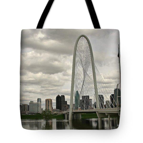 Dallas Suspension Bridge Tote Bag