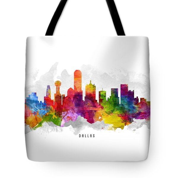 Dallas Texas Cityscape 13 Tote Bag by Aged Pixel