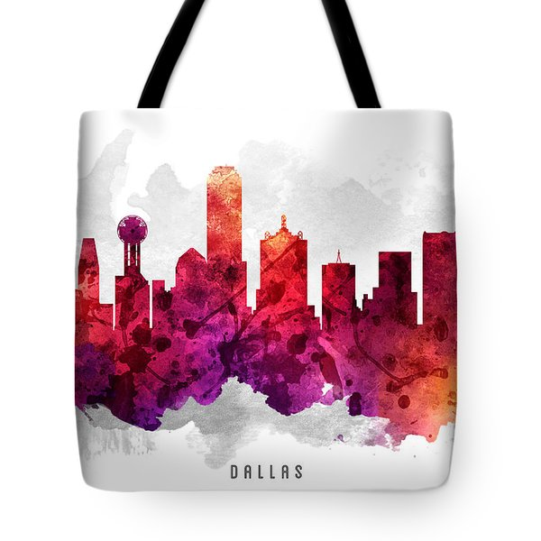 Dallas Texas Cityscape 14 Tote Bag by Aged Pixel