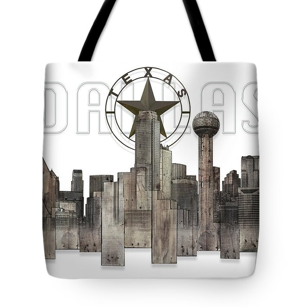 Dallas Texas Skyline Tote Bag by Doug Kreuger