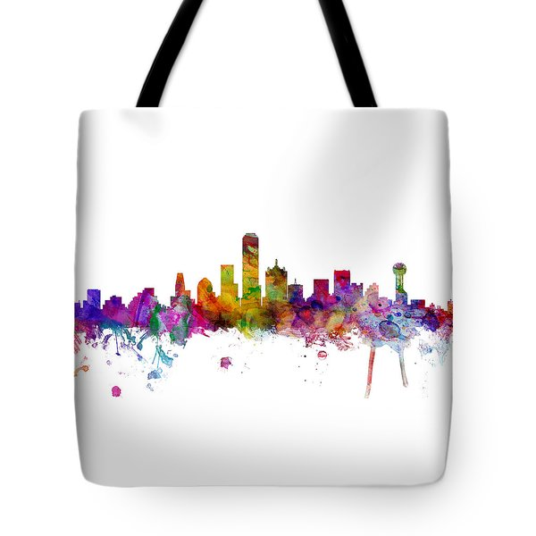 Dallas Texas Skyline Panoramic Tote Bag