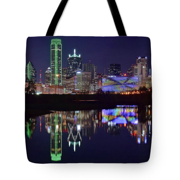 Tote Bag featuring the photograph Dallas Texas Squared by Frozen in Time Fine Art Photography