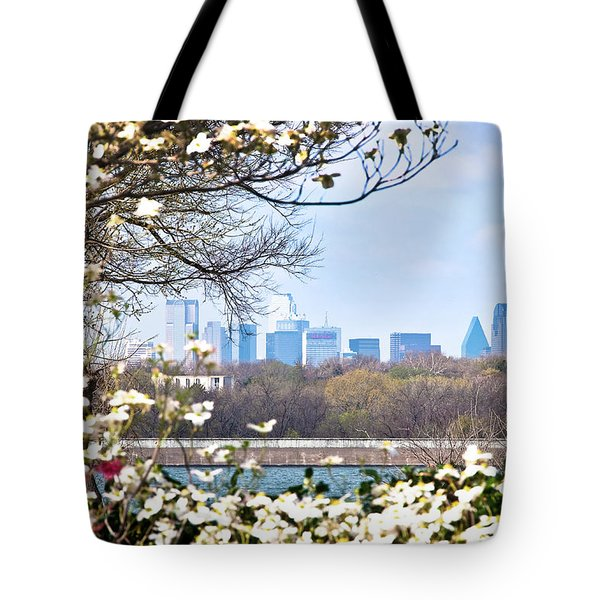 Dallas Through The Dogwood Flowers Tote Bag by Tamyra Ayles