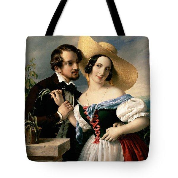 Dalliance Tote Bag by Miklos Barabas