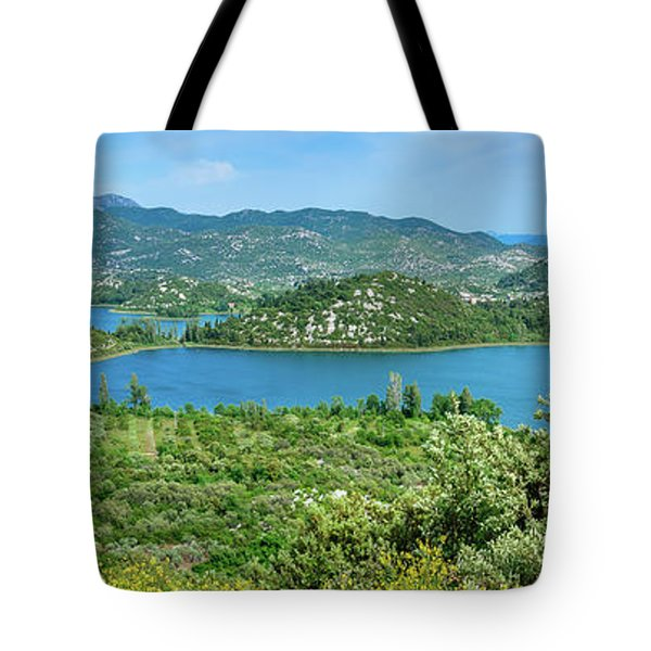 Dalmatian Coast Panorama, Dalmatia, Croatia Tote Bag
