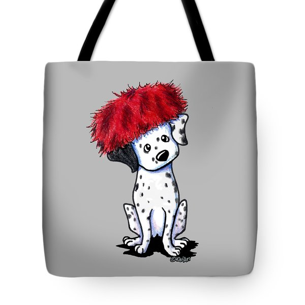 Dalmatian In Red Tote Bag