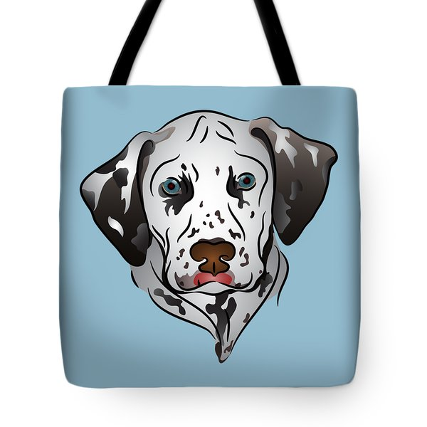 Tote Bag featuring the digital art Dalmatian Portrait by MM Anderson