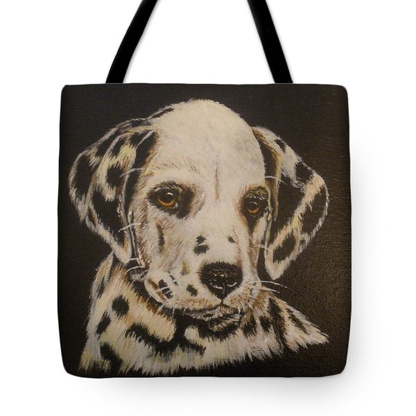 Tote Bag featuring the painting Dalmation by Betty-Anne McDonald