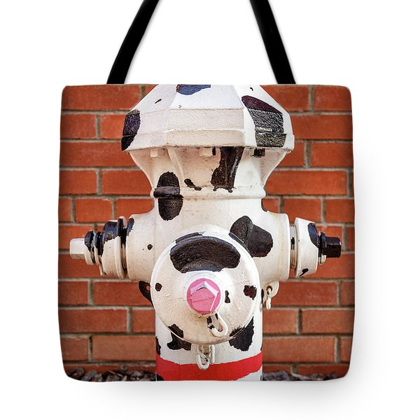 Tote Bag featuring the photograph Dalmation Hydrant by James Eddy