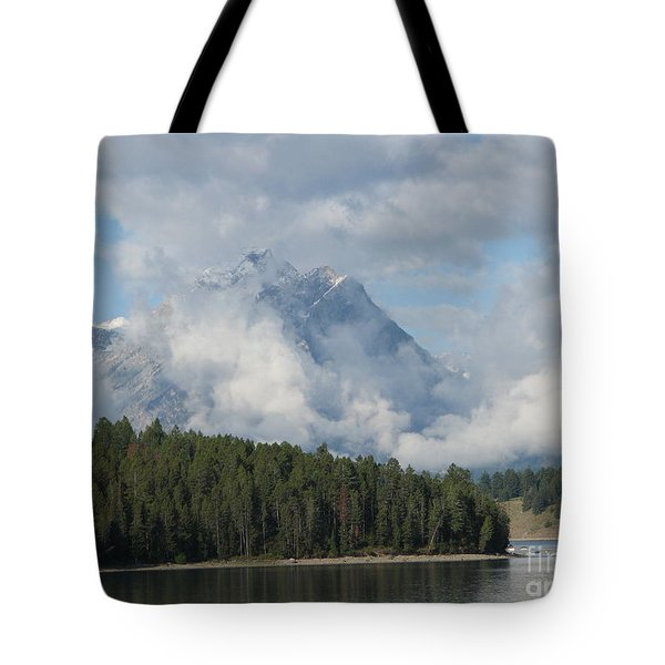 Tote Bag featuring the photograph Dam Clouds by Greg Patzer