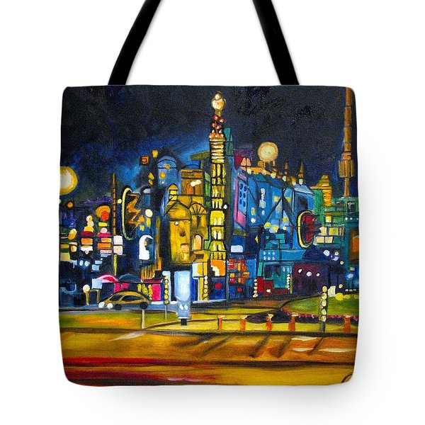 Tote Bag featuring the painting Dam Square by Patricia Arroyo