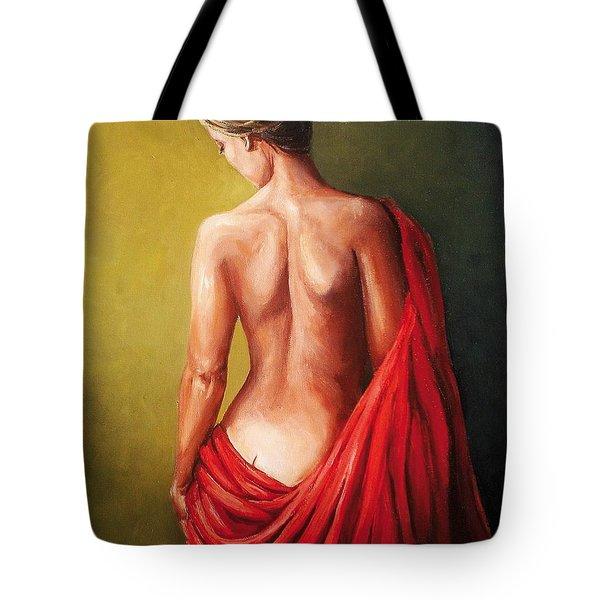 Dama De Rojo Tote Bag