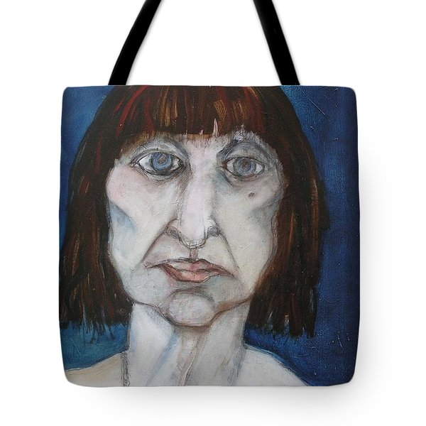 Tote Bag featuring the painting Damaged by Carolyn Weltman