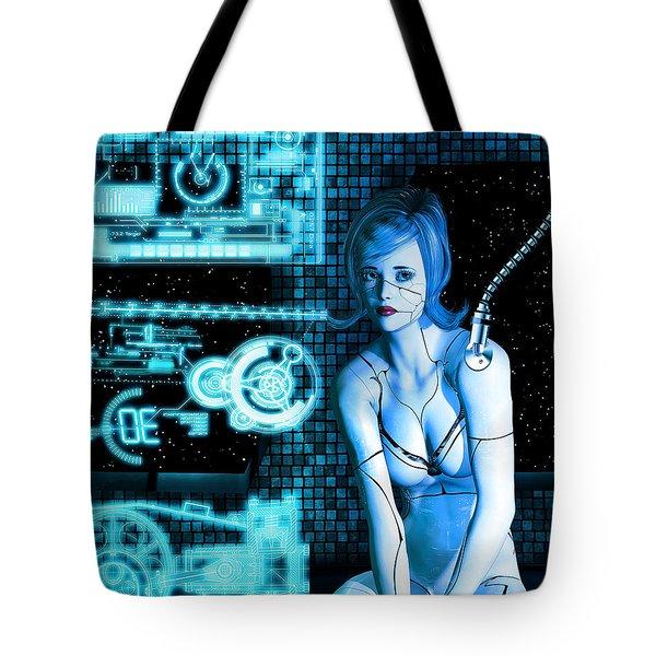 Damaged Cyborg Tote Bag