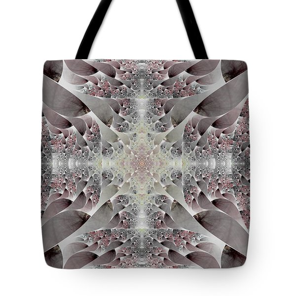 Tote Bag featuring the digital art Damask by Lea Wiggins