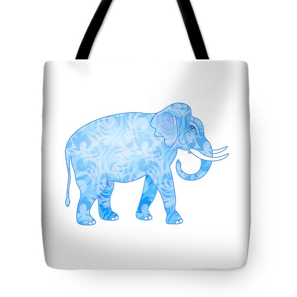 Damask Pattern Elephant Tote Bag by Antique Images