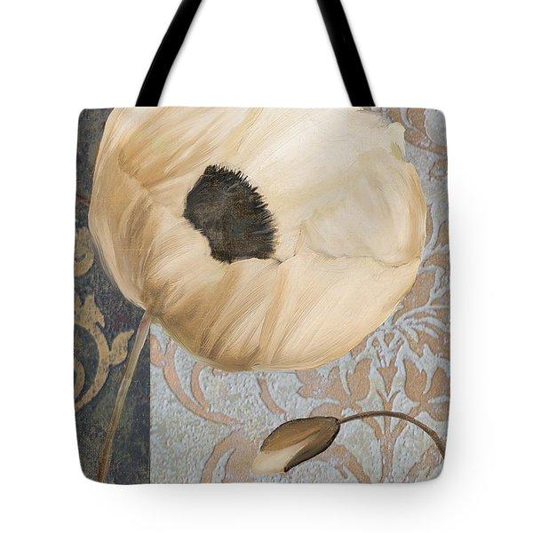 Damask Poppy Tote Bag