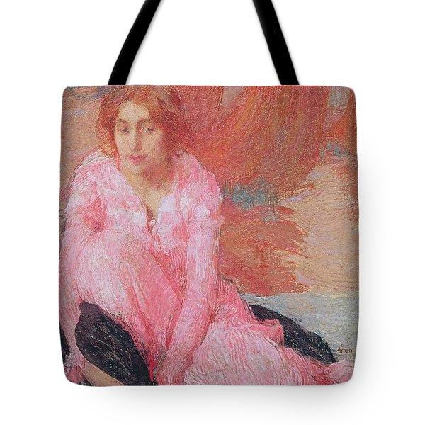 Dame En Rose Tote Bag by Edmond Francois Aman Jean