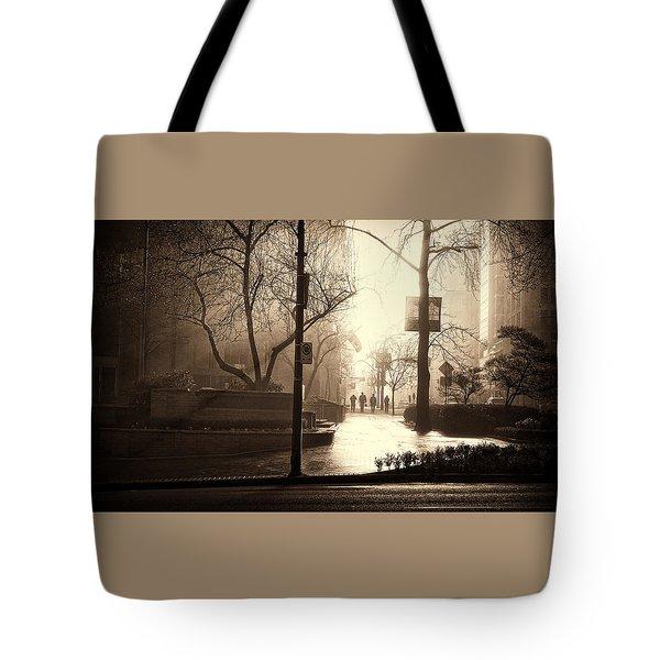 Damp Dawn Tote Bag