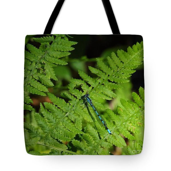 Damselfly Tote Bag by Jimmy Ostgard