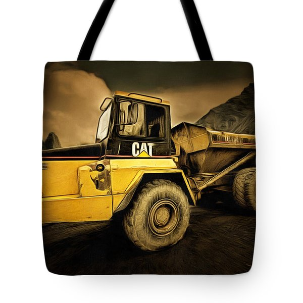 Dan Creek Rock Truck Tote Bag