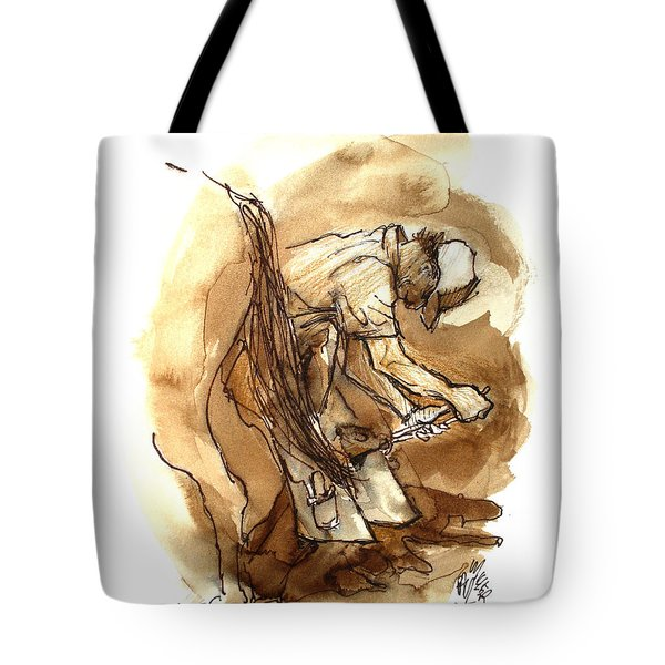Dan The Farrier At The Morgan Horse Ranch Prns Tote Bag