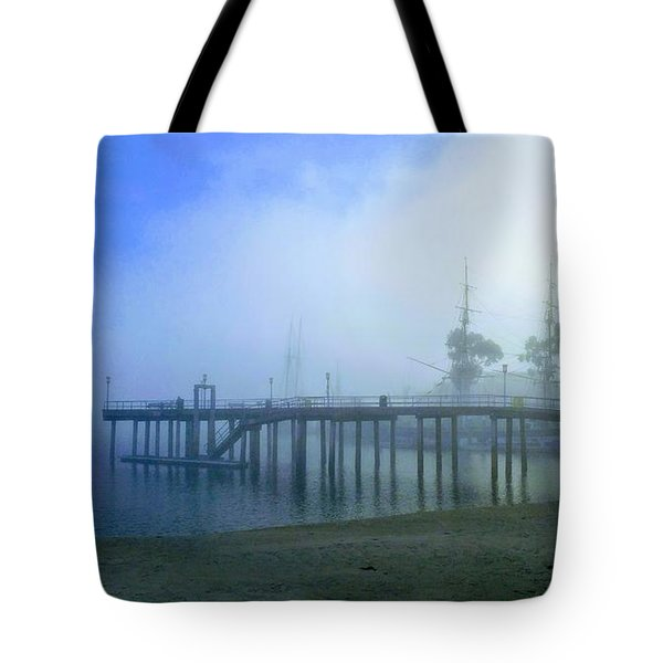 Dana Point Harbor When The Fog Rolls In Tote Bag