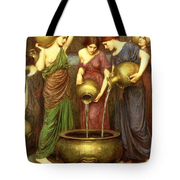 Danaides Tote Bag by John William Waterhouse