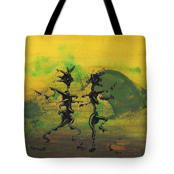 Dance Art Dancing Couple Ix Tote Bag