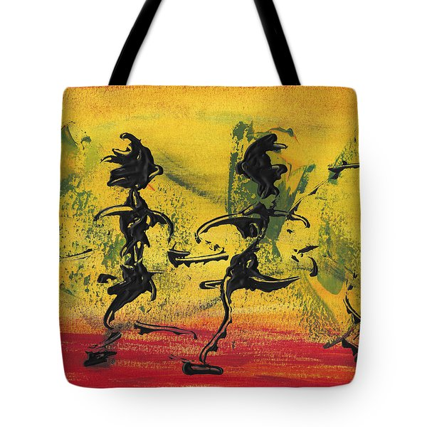 Dance Art Dancing Couple Viii Tote Bag by Manuel Sueess