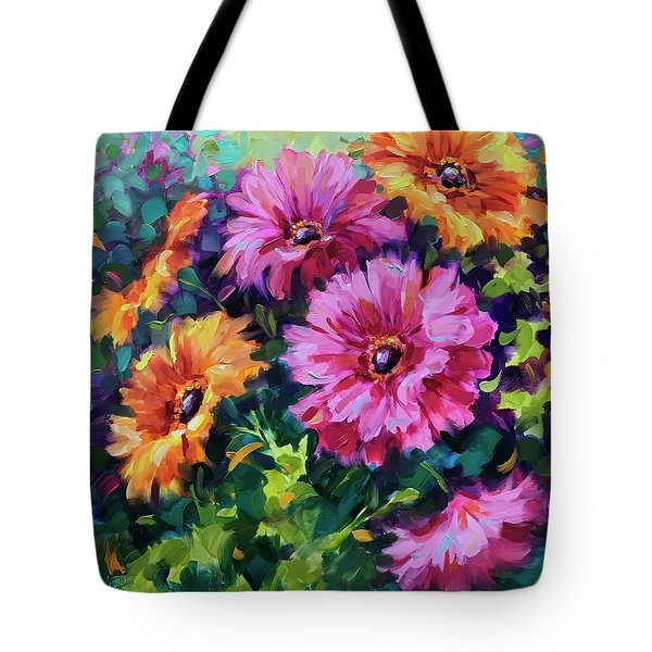 Dance By The Light Of The Moon Daisies Tote Bag
