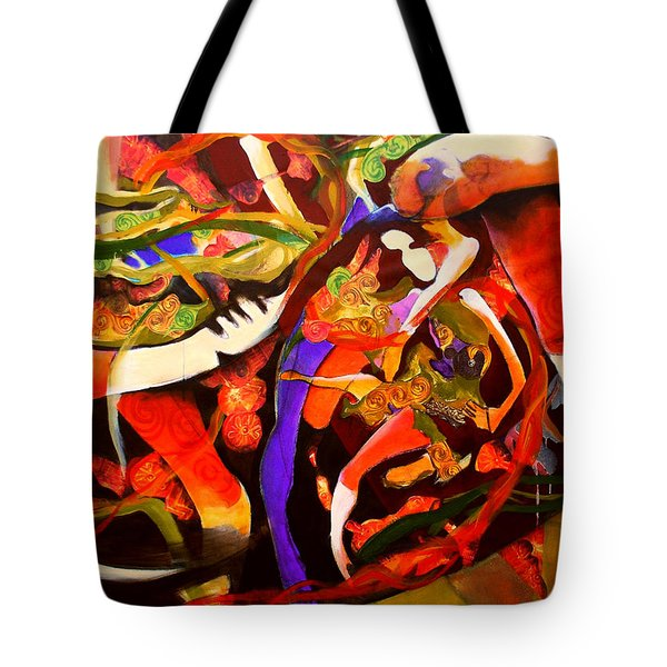 Dance Frenzy Tote Bag