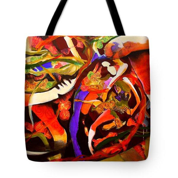 Dance Frenzy Tote Bag by Georg Douglas