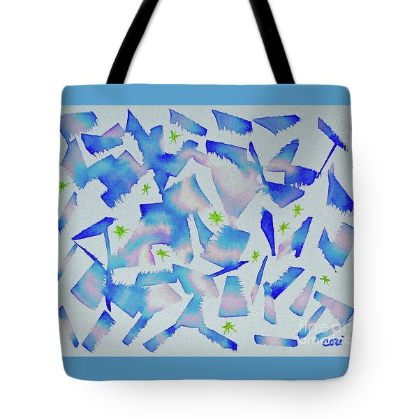 Tote Bag featuring the painting Dance In Blue by Corinne Carroll