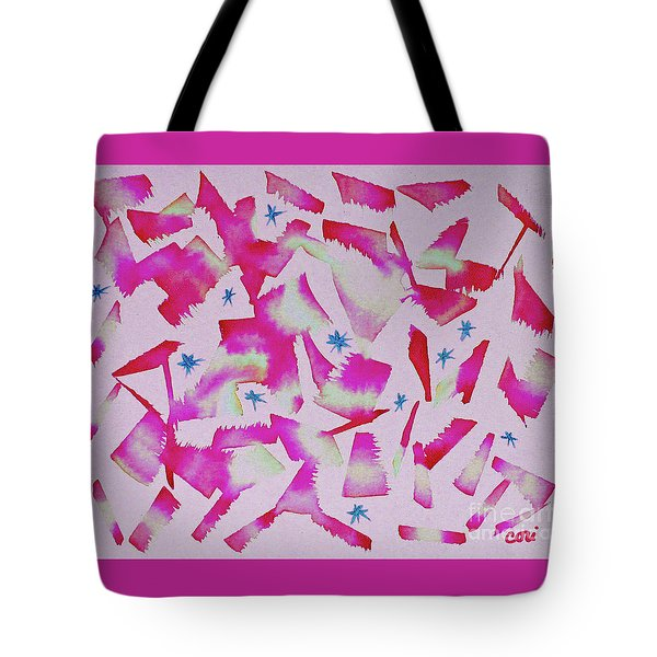 Tote Bag featuring the painting Dance In Pink by Corinne Carroll