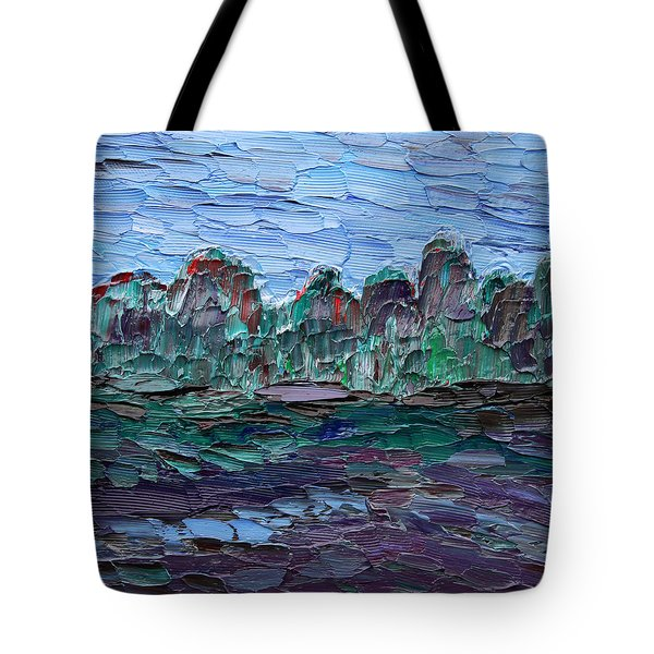 Tote Bag featuring the painting Dance In The Rain by Vadim Levin