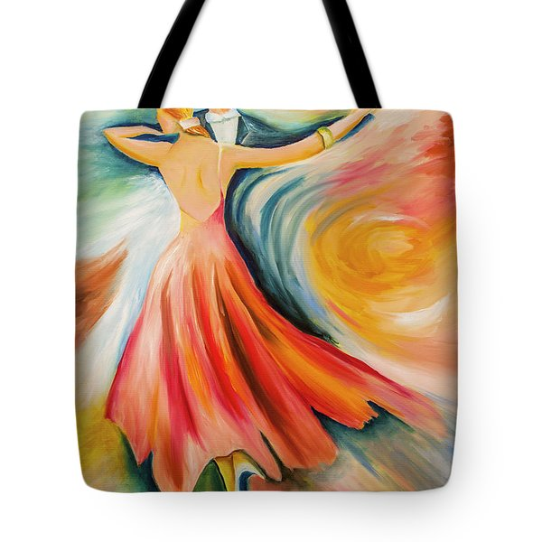 Dance Me To The End Of Time Tote Bag by Itzhak Richter