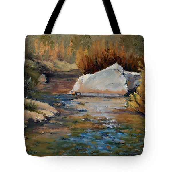 Dance Of Light On Bishop Creek Tote Bag