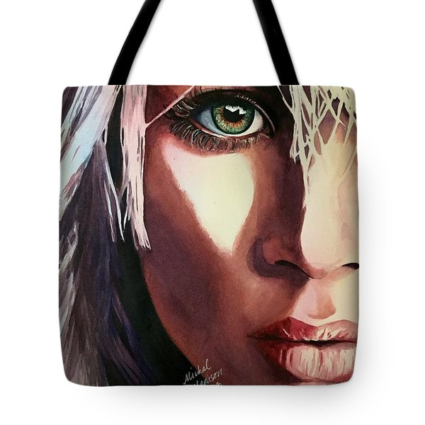 Tote Bag featuring the painting Dance Of Love by Michal Madison