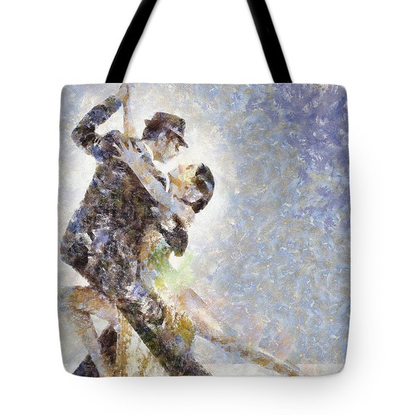 Dance Of Romance Tote Bag by Shirley Stalter