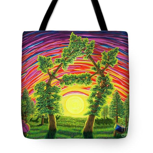 Dance Of Sunset Tote Bag