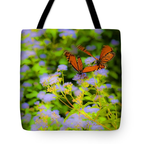 Tote Bag featuring the photograph Dance Of The Butterflies by Edward Peterson