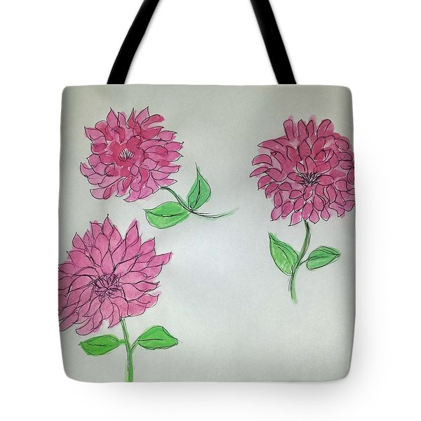 Dance Of The Dahlias Tote Bag