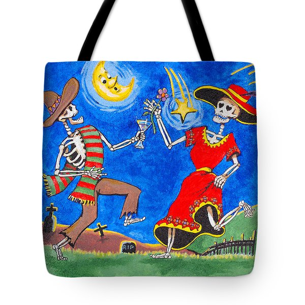 Tote Bag featuring the painting Dance Of The Dead by Dale Loos Jr