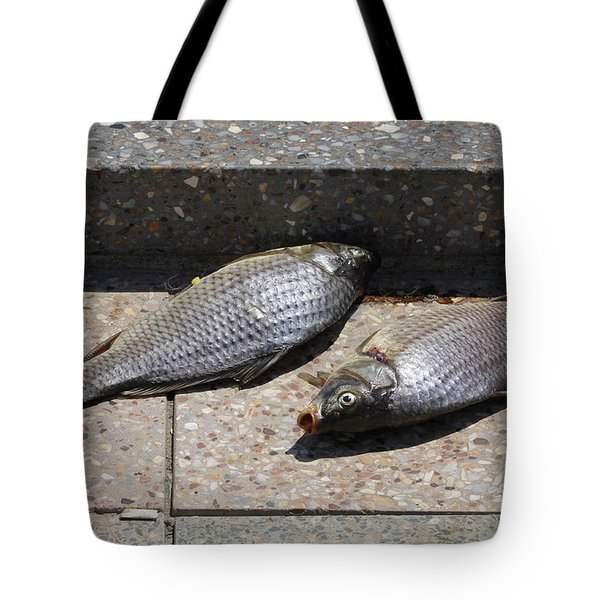Dance Of The Dead Fish Tote Bag