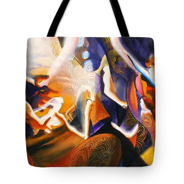 Dance Of The Druids Tote Bag by Georg Douglas